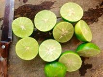 Fresh of slice lemon Stock Images