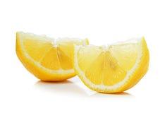 Fresh slice lemon on white background Royalty Free Stock Photo