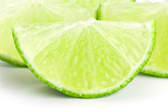 Fresh slice lime Stock Photography