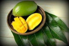 Fresh slice mango Royalty Free Stock Photo