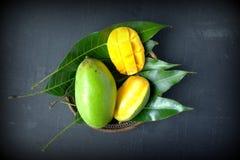 Fresh slice mango Stock Photography