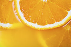 Fresh a slice of orange close-up Royalty Free Stock Images