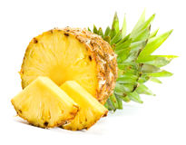 Fresh slice pineapple Stock Photos
