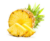Fresh slice pineapple. On the white background Royalty Free Stock Image