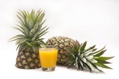 Fresh slice pineapple on white background Royalty Free Stock Photo