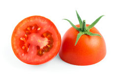 Fresh slice red tomato. On white background Royalty Free Stock Image
