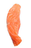 Fresh slice of  salmon. Fresh slice of salmon isolated on white background Royalty Free Stock Photography