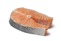 Fresh slice of salmon Stock Images