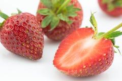 Fresh slice strawberry on white background Stock Photography