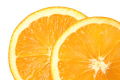Fresh sliced oranges stock photos