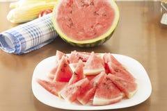 Fresh sliced ��watermelon Royalty Free Stock Photo
