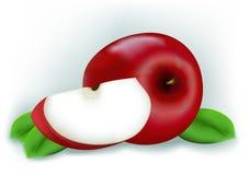 Fresh sliced apples Stock Photo
