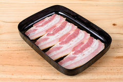 Raw Bacon Slice Stock Photos