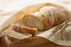 Fresh sliced bread. Tasty fresh sliced bread closeup royalty free stock image