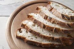 Fresh sliced bread close up. Stock Photo