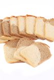 Fresh sliced bread. Isolated on a white background Stock Images