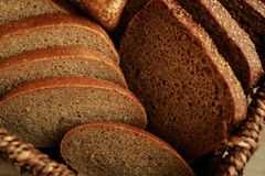 Fresh sliced bread loaf,. Closeup Stock Photos