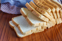 Fresh sliced bread. One sliced Royalty Free Stock Images