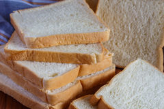 Fresh sliced bread. One sliced Royalty Free Stock Photos