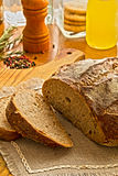 Fresh sliced bread on the Wooden cutting board Royalty Free Stock Images