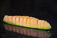 Fresh sliced cantaloupe Royalty Free Stock Photos