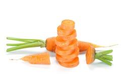 Fresh sliced carrot Royalty Free Stock Photos