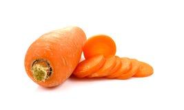 Fresh sliced carrot isolated on white background. Sliced carrot isolated on white stock photography