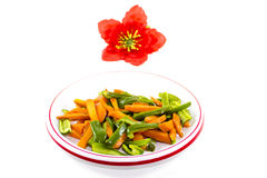 Fresh Sliced Carrots and Capsicum Royalty Free Stock Photo