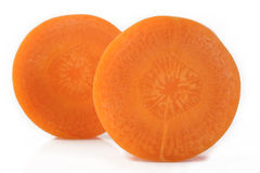 Fresh sliced carrots Stock Photography