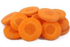 Fresh sliced carrots Royalty Free Stock Photography