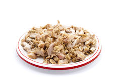 Fresh Sliced Chicken Meat. On Plate Stock Photography