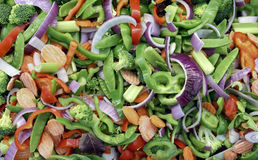 Fresh sliced and chopped vegetables Royalty Free Stock Photography