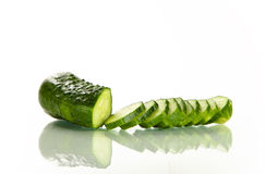 Fresh sliced cucumber Royalty Free Stock Images