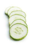 Fresh sliced cucumber. Stock Image