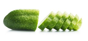 Fresh sliced cucumber. Royalty Free Stock Photography
