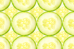 Fresh sliced cucumber. Stock Image
