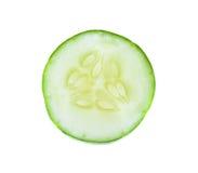 Fresh sliced   cucumber on white background. Fresh sliced   cucumber on a  white background Stock Photo