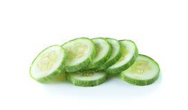Fresh sliced   cucumber on white background. Fresh sliced   cucumber on a white background Stock Photos