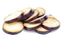 Fresh sliced eggplant Stock Photography