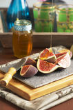 Fresh sliced figs Stock Photo