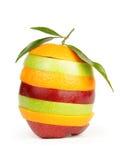 Fresh sliced fruit Stock Photo
