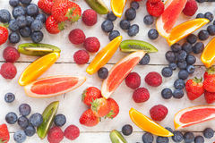 Fresh sliced fruit Royalty Free Stock Photo