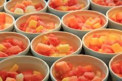 Fresh sliced fruit Stock Image