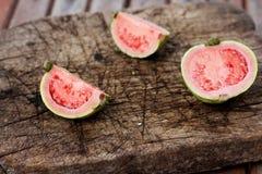 Fresh sliced guava Stock Photos