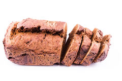 Fresh  sliced homemade whole grain brown bread with cereals Stock Photos