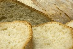 Fresh sliced Italian bread Stock Images
