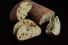 Fresh sliced italian Ciabatta bread on background Royalty Free Stock Photo