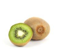 Fresh sliced kiwi. Fresh kiwi isolated on white Royalty Free Stock Photo