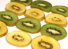 Fresh sliced kiwi fruit Stock Photos