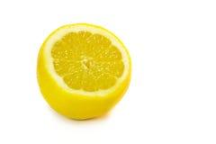 Fresh sliced lemon. Fresh ripe sliced lemon isolated on white Stock Photos